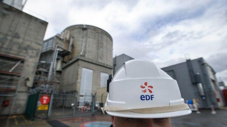 Un employé d'EDF à la centrale nucléaire de Fessenheim (Haut-Rhin), le 9 avril 2013. (SEBASTIEN BOZON / AFP)