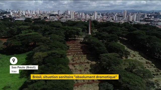 Brésil : la situation sanitaire est dramatique, le pays déplore jusqu'à 4 000 morts par jour