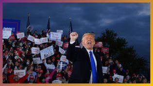 Donald Trump en meeting pendant la campagne pour l'élection présidentielle de 2020 (AFP)