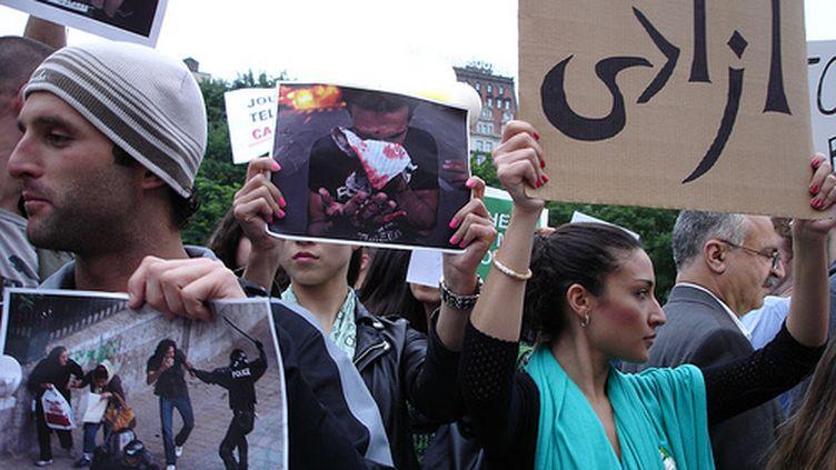 Manifestation anti-Ahmadinejad le 17 juin à New York (Pierre-Olivier Casabianca - Tous droits réservés)
