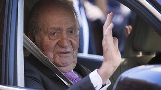 L'ex-roi d'Espagne Juan Carlos àPalma de Majorque (Espagne),le 1er avril 2018. (JAIME REINA / AFP)