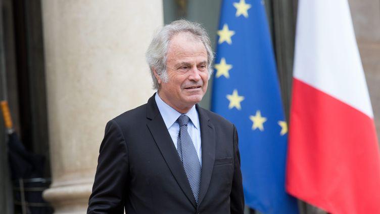 Franz Olivier Giesbert à l'Élysee en2016. (CHRISTOPHE MORIN / MAXPPP)
