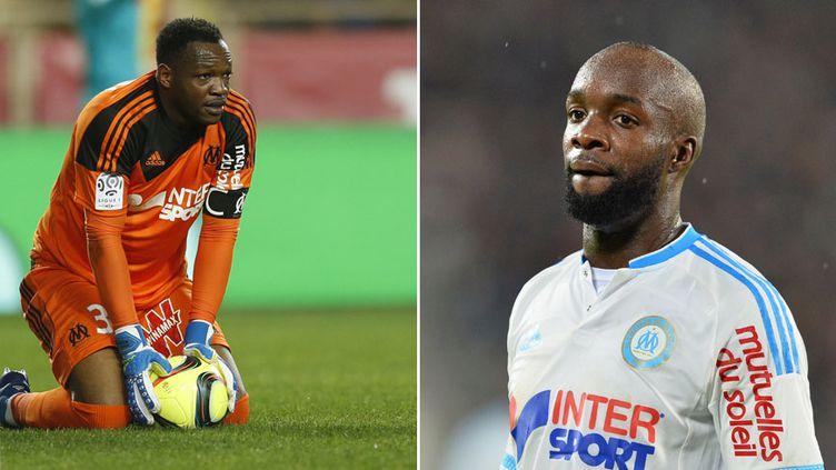 Les deux joueurs de l'OM, Steve Mandanda et Lassana Diarra