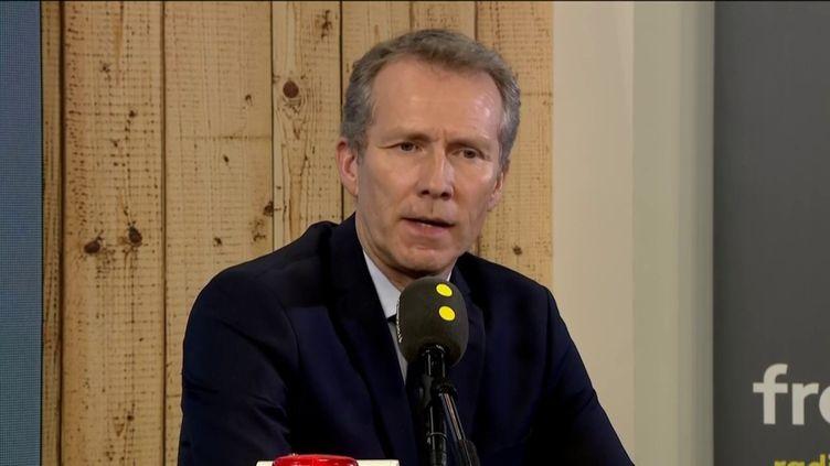 Guillaume Garot, député PS de la Mayenne, invité de franceinfo le 22 février 2019. (FRANCEINFO)