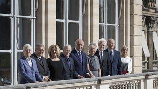 Les membres nommés du Conseil constitutionnel, le 28 juin 2018. (JOEL SAGET / AFP)