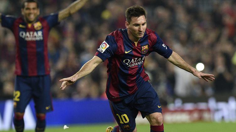 Lionel Messi (Barcelone) face au FC Séville (LLUIS GENE / AFP)