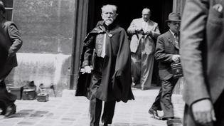 L'écrivain d'extrême droite Charles Maurras en 1939 à L'Académie Française  (AFP)