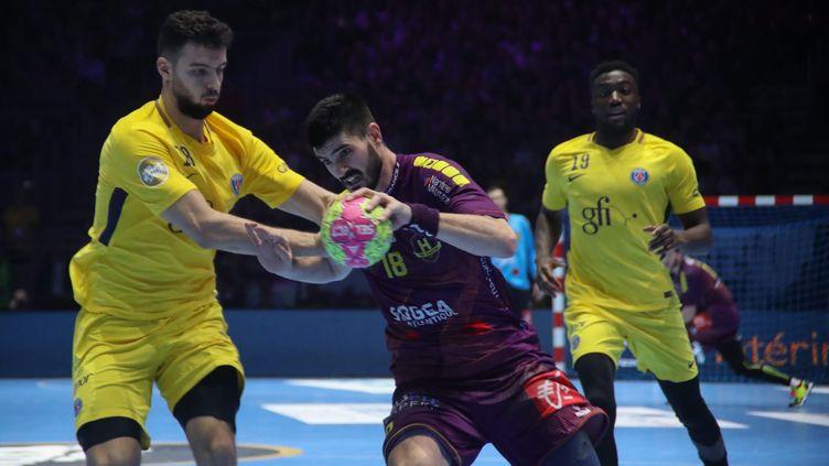 Le HBC Nantes affrontera le PSG ce 26 mai en demi-finale de la Ligue des Champions de handball à Cologne, en Allemagne (MAXPPP)
