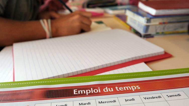 Rentrée scolaire à l'école européenne de Strasbourg (Bas-Rhin), le 4 septembre 2012. (FREDERICK FLORIN / AFP)