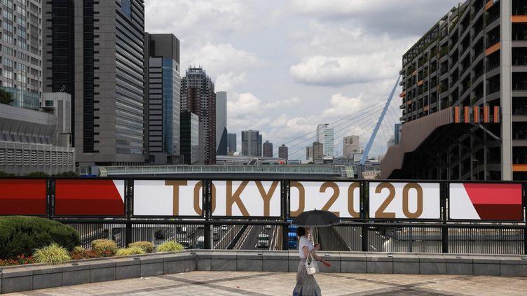 La cérémonie d'ouverture des Jeux olympiques de Tokyo est prévue pour le 23 juillet 2021. (STANISLAV KOGIKU / APA-PICTUREDESK via AFP)