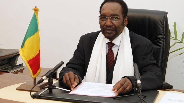 Dioncounda Traoré, le président malien par intérim à Bamako, le 11 décembre 2012. (HABIB KOUYATE / AFP)