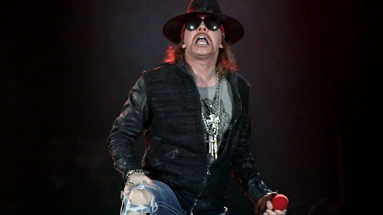 Le chanteur de Guns N' Roses, Axl Rose, lors d'un concert à l'Echo Arena de Liverpool (Royaume-Uni), le 20 mai 2012. (WENN.COM / SIPA)