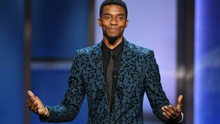 L'acteur américain Chadwick Boseman lors du 47e gala AFI, à Hollywood (Californie, Etats-Unis), le 6 juin 2019. (KEVIN WINTER / GETTY IMAGES NORTH AMERICA / AFP)