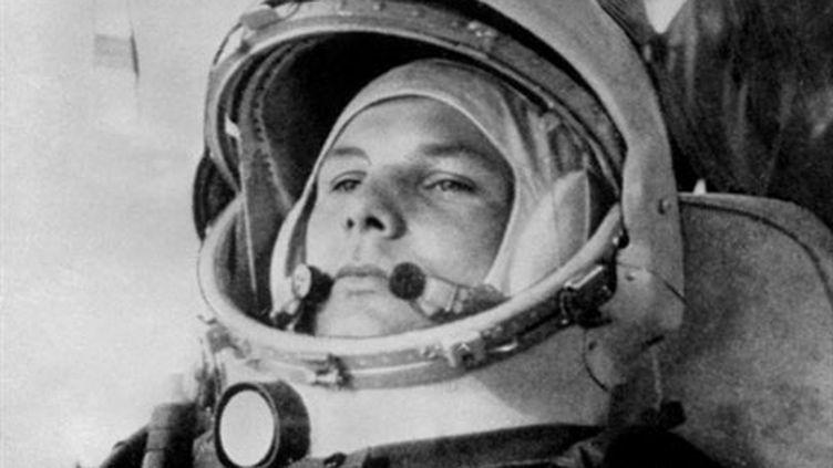 Youri Gagarine lors de son embarquement à bord de Vostok-1, le 12 avril 1961. (AFP)