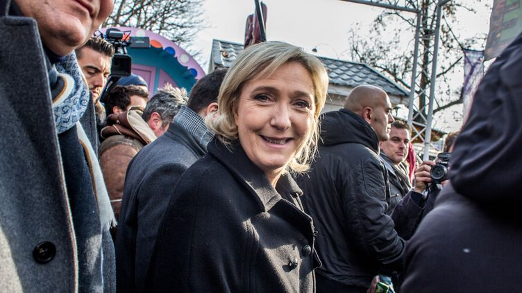 La candidate du FN à la présidentielle, Marine Le Pen, le 8 décembre 2016. (MICHAEL BUNEL / NURPHOTO / AFP)