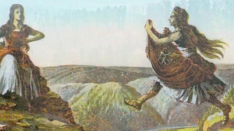 France 2 vous fait découvrir les géants de Nideck, dont les frères Grimm n'ont pas manqué de raconter l'histoire. (France 2)
