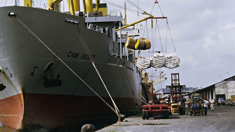 Les deux bateaux piratés étaient au mouillage au large du port de Douala au Cameroun.Photo d'illustration. (JEAN-MICHEL LELIGNY / PHOTONONSTOP)