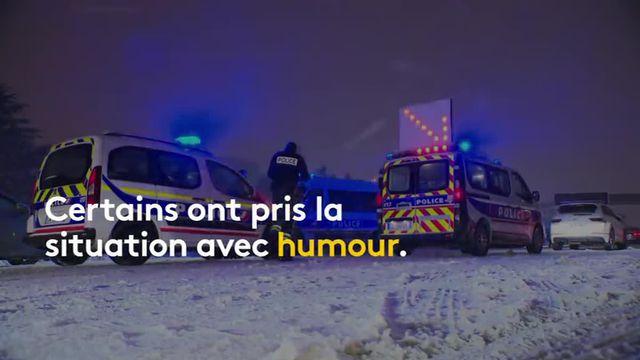 Neige en région parisienne : les naufragés de la N118