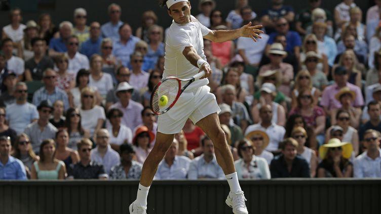 Roger Federer a retrouvé son meilleur niveau à Wimbledon (ADRIAN DENNIS / AFP)