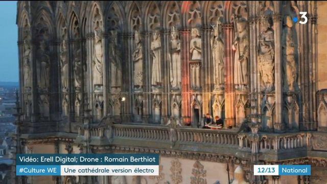 Reims : une cathédrale façon électro dans le clip du groupe TRAF