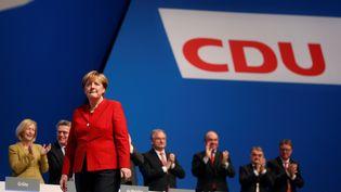 La chancelière allemande Angela Merkel, le 6 décembre 2016 à Essen (Allemagne). (INA FASSBENDER / ANADOLU AGENCY / AFP)