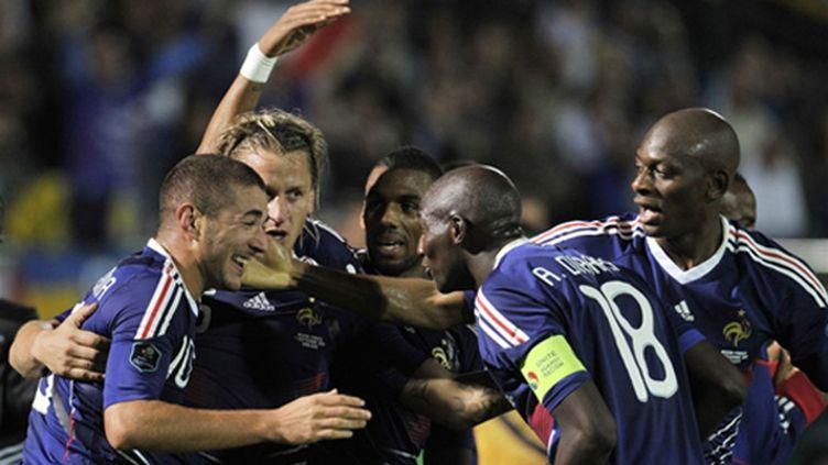 La joie des Français (BORIS HORVAT / AFP)