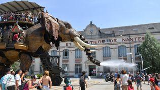 L'éléphant de Nantes, 20 juin 2017  (LOIC VENANCE / AFP)