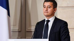 Le ministre de l'Action et des Comptes publics Gérald Darmanin à l'Elysée, à Paris, le 27 novembre 2017. (BERTRAND GUAY / AFP)
