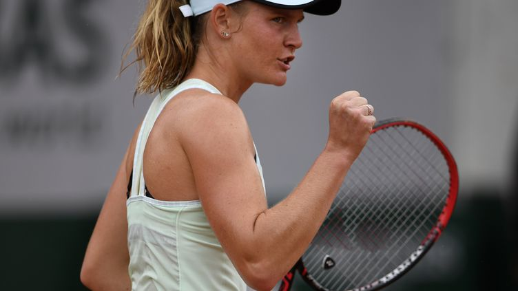 Fiona Ferro lors de Roland-Garros 2018. (ERIC FEFERBERG / AFP)