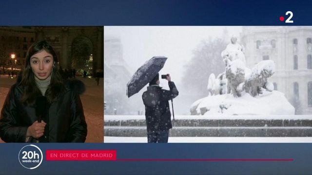 Tempête Filoména : de la neige à Madrid, du jamais du depuis 50 ans