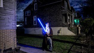Pour les fans de Star Wars, vivre sa passion en temps de pandémie a bien souvent été une affaire de solitude. (MATTHIEU MONDOLONI / FRANCEINFO)