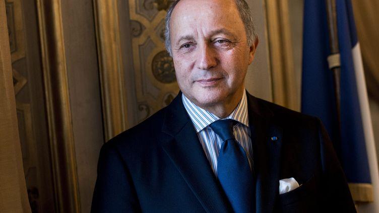 Le ministre des Affaires étrangères, Laurent Fabius, le 4 février 2013 au Quai d'Orsay, à Paris. (MAXPPP)