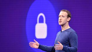 Mark Zuckerberg à San José en Californie, le 1er mai 2018. (photo d'illustration) (JOSH EDELSON / AFP)