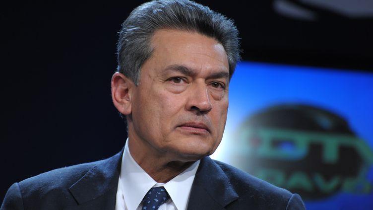 Rajat Gupta, ancien administrateur de la banque Goldman Sachs, en janvier 2010 à Davos (Suisse). (ERIC PIERMONT / AFP)