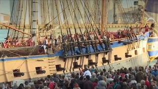 L'Hermione, à l'Armada de Rouen (Seine-Maritime), vendredi 7 juin. (FRANCE 3)
