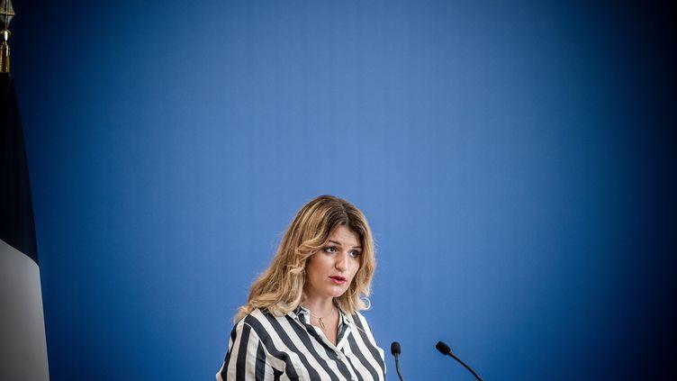 La ministre déléguée chargée de la Citoyenneté, Marlène Schiappa, le 31 août 2020 à Paris. (ARTHUR NICHOLAS ORCHARD / HANS LUCAS / AFP)