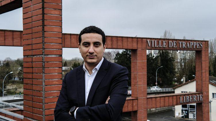 Ali Rabeh, élu maire de Trappes avant que l'élection ne soit annulée, le 17 février 2021. (MAXPPP)