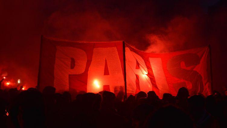Les supporters parisiens en marge de la rencontre contre le Real Madrid, le 6 mars 2018. (ALPHACIT NEWIM / CROWDSPARK)