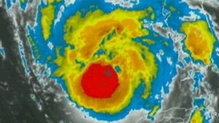 Vue satellite de l'ouragan Gustav qui avait fait des ravages en Haïti en août 2008. (France 2)