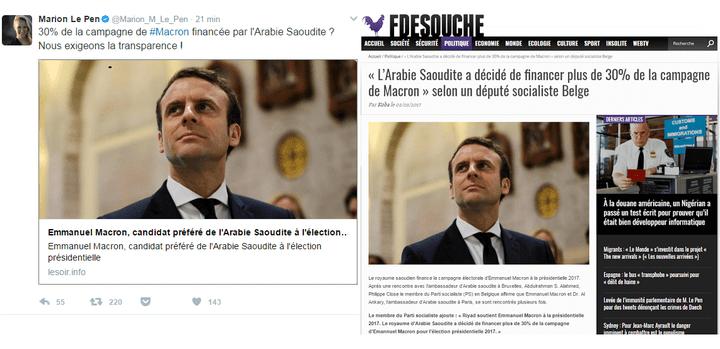 """Cet article, inventé de toutes pièces puis repris par l'extrême droite, a été diffusé sur un site qui copie le site Internet du quotidien belge """"Le Soir"""". (DR)"""