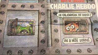 """Extrait de la une du numéro du 3 janvier 2018 de """"Charlie Hebdo"""". (CHARLIE HEBDO)"""