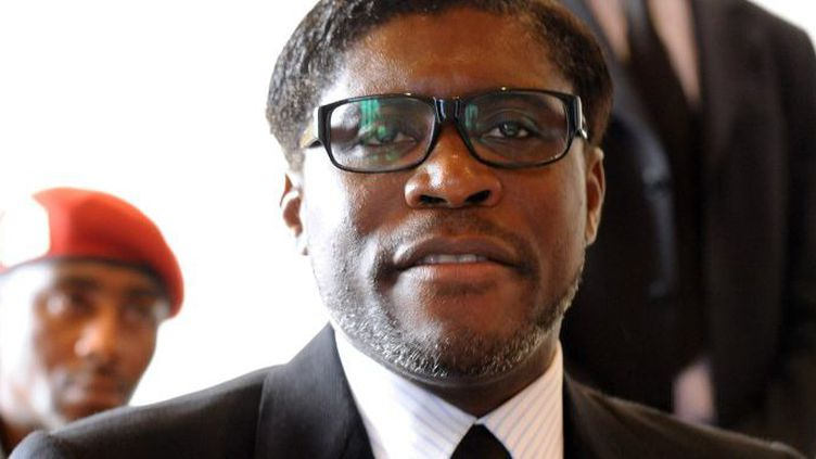 Teodoro Nguema Obiang Mangue, alias Teodorin, le 24 janvier 2012 en Guinée équatoriale. (ABDELHAK SENNA/AFP)