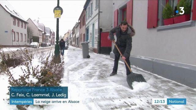 Vague de froid : en Alsace, la neige ne déstabilise pas les habitants