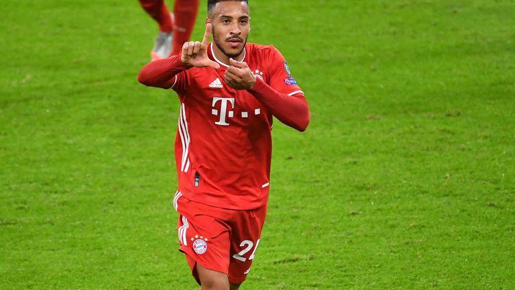 Corentin Tolisso lors de la rencontre Bayern - Alético Madrid en Ligue des Champions, le 21 octobre 2020.  (FRANK HOERMANN / AUGENKLICK/SVEN SIMON)