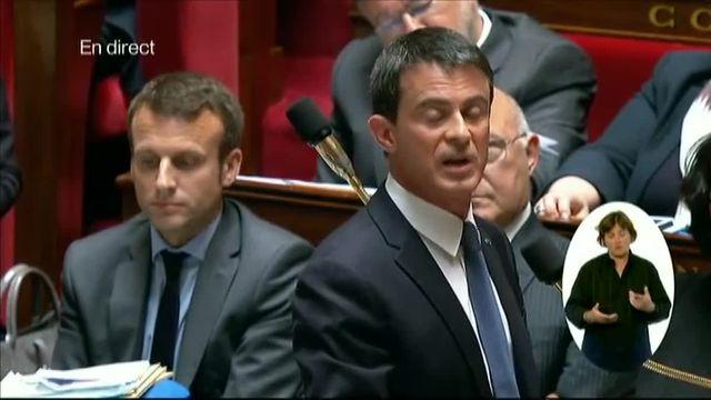 Valls sermonne Macron en pleine séance à l'Assemblée