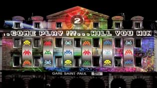 La Gare-Saint Paul de Lyon se transforme en console de jeu pour la 16e Fête des Lumières  (France 3 / Culturebox)