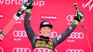 La Française Tessa Worley, victorieuse le 7 janvier du géant de Maribor, veut confirmer sa domination sur la spécialité ce jeudi à Saint-Moritz au Mondiaux (JURE MAKOVEC / AFP)
