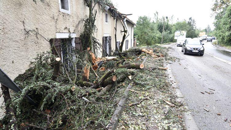 Une rue de Montauban (Tarn-et-Garonne) après de violents orages, le 1er septembre 2015. (PASCAL PAVANI / AFP)