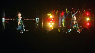 Aerosmith sur la scène du Hellfest le 17 juin. (YANN BERTRAND / RADIO FRANCE)