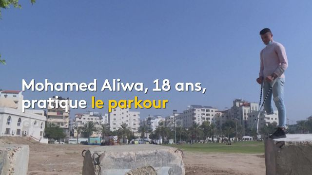 Pour beaucoup de jeunes Palestiniens vivant à Gaza, le parkour est une discipline qui leur permet de s'extraire d'un quotidien difficile. Depuis novembre, un club leur permet de développer leur pratique.